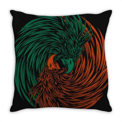 Eagle Yin Yang Consept Throw Pillow Designed By Romancity