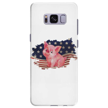 Pig American Flag Usa Patriotic  4th Of July Gift Samsung Galaxy S8 Plus Case Designed By Vip.pro123