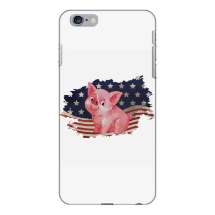 Pig American Flag Usa Patriotic  4th Of July Gift Iphone 6 Plus/6s Plus Case Designed By Vip.pro123