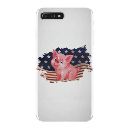Pig American Flag Usa Patriotic  4th Of July Gift Iphone 7 Plus Case Designed By Vip.pro123