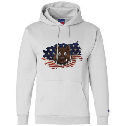 Pitbull American Flag Usa Patriotic  4th Of July Gift Champion Hoodie Designed By Vip.pro123