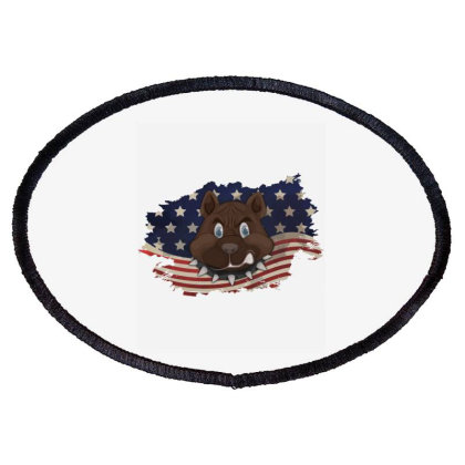 Pitbull American Flag Usa Patriotic  4th Of July Gift Oval Patch Designed By Vip.pro123