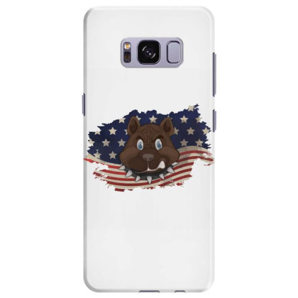 Pitbull American Flag Usa Patriotic  4th Of July Gift Samsung Galaxy S8 Plus Case Designed By Vip.pro123