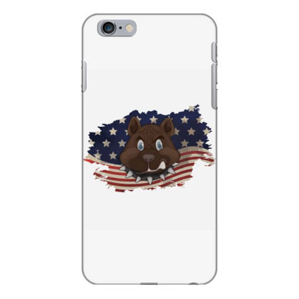 Pitbull American Flag Usa Patriotic  4th Of July Gift Iphone 6 Plus/6s Plus Case Designed By Vip.pro123