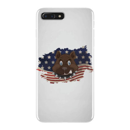 Pitbull American Flag Usa Patriotic  4th Of July Gift Iphone 7 Plus Case Designed By Vip.pro123