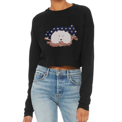 Poodle American Flag Usa Patriotic  4th Of July Gift Cropped Sweater Designed By Vip.pro123
