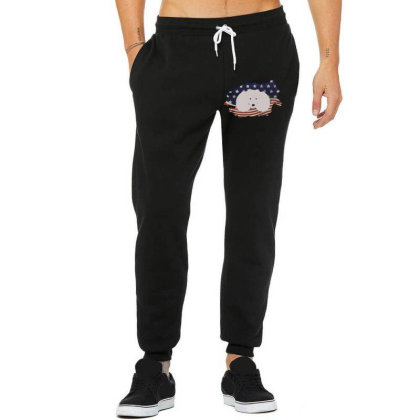 Poodle American Flag Usa Patriotic  4th Of July Gift Unisex Jogger Designed By Vip.pro123