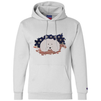 Poodle American Flag Usa Patriotic  4th Of July Gift Champion Hoodie Designed By Vip.pro123
