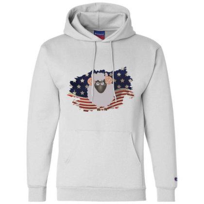 Sheep American Flag Usa Patriotic  4th Of July Gift Champion Hoodie Designed By Vip.pro123