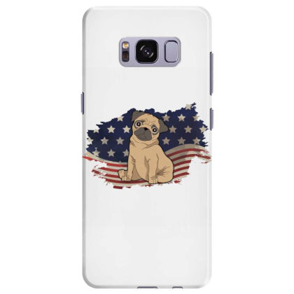 Pug American Flag Usa Patriotic  4th Of July Gift Samsung Galaxy S8 Plus Case Designed By Vip.pro123