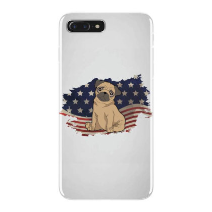 Pug American Flag Usa Patriotic  4th Of July Gift Iphone 7 Plus Case Designed By Vip.pro123