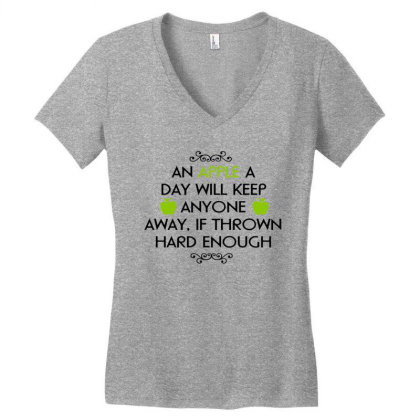 Wisdom Typography Text Art Women's V-neck T-shirt Designed By Chiks