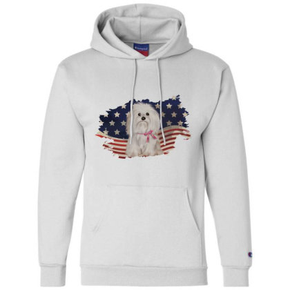 Shih Tzu American Flag Usa Patriotic  4th Of July Gift Champion Hoodie Designed By Vip.pro123