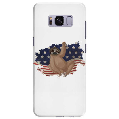 Sloth American Flag Usa Patriotic  4th Of July Gift Samsung Galaxy S8 Plus Case Designed By Vip.pro123