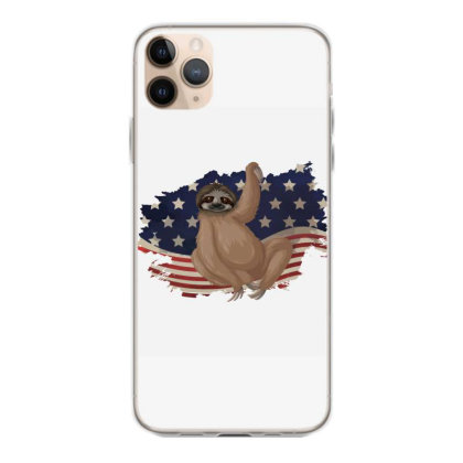 Sloth American Flag Usa Patriotic  4th Of July Gift Iphone 11 Pro Max Case Designed By Vip.pro123