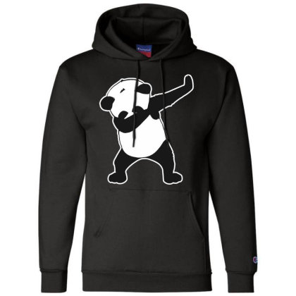Panda Funny Dab Champion Hoodie Designed By Crystal_13