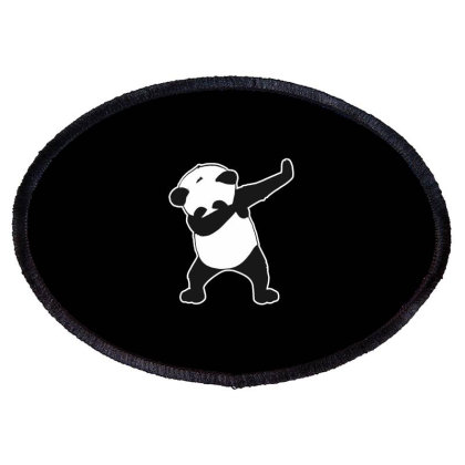 Panda Funny Dab Oval Patch Designed By Crystal_13