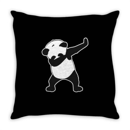 Panda Funny Dab Throw Pillow Designed By Crystal_13