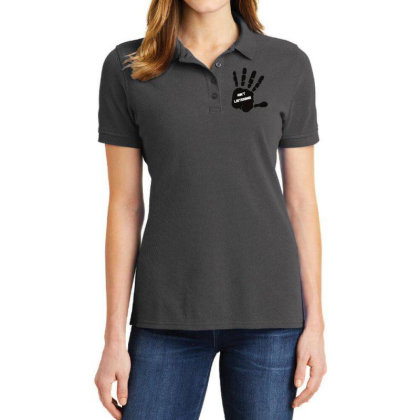 Ain't Listening Hand Art Ladies Polo Shirt Designed By Chiks