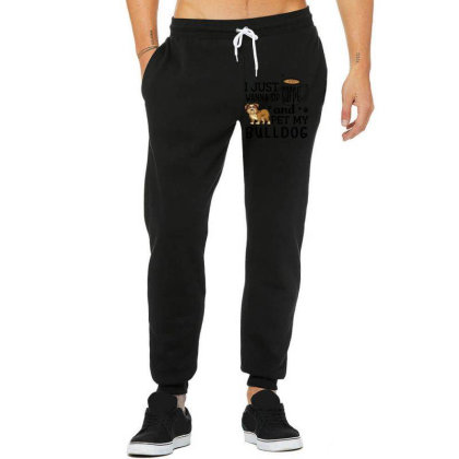 I Just Wanna Sip Coffee And Pet My Bulldog Unisex Jogger Designed By Vip.pro123