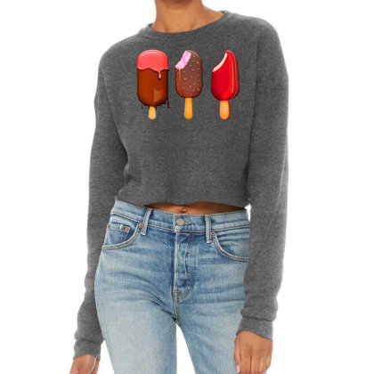 Ice Cream On Stick Cropped Sweater Designed By Chiks