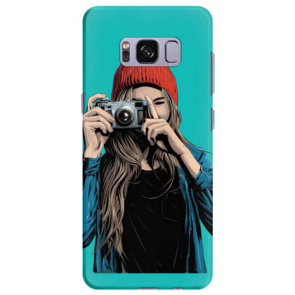 Stylish Girl With Camera Samsung Galaxy S8 Plus Case Designed By Chiks