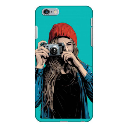 Stylish Girl With Camera Iphone 6 Plus/6s Plus Case Designed By Chiks