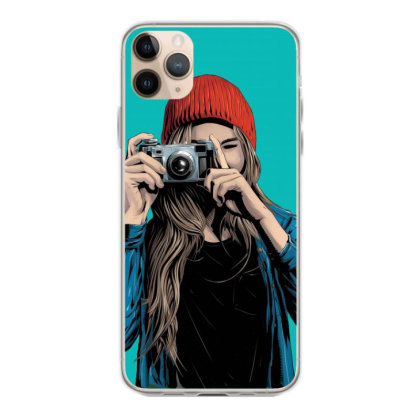 Stylish Girl With Camera Iphone 11 Pro Max Case Designed By Chiks