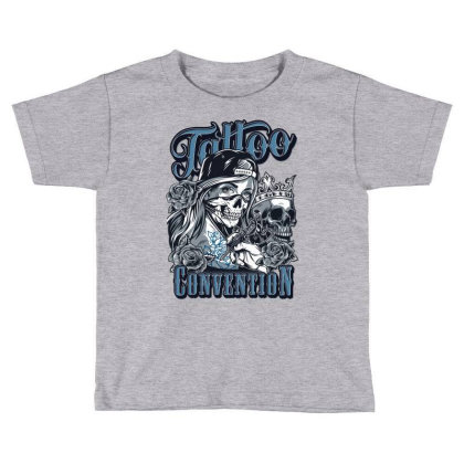 Tattoo Convention, Skull, Skeleton Toddler T-shirt Designed By Estore