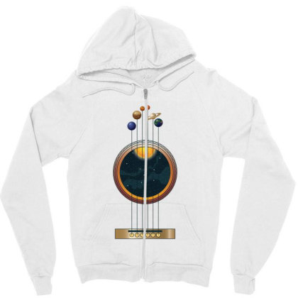 Guitarist Life: Space Music Zipper Hoodie Designed By Podanytime