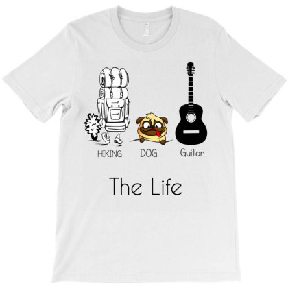 Hiking And Dog And Guitar - Funny Gift For Hiker Who Loves Dog And Gui T-shirt Designed By Cuser4067