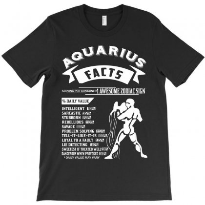 Aquarius Hoodies Aquarius Facts Serving Per Container 1 Awesome Zodiac T-shirt Designed By Designbycommodus