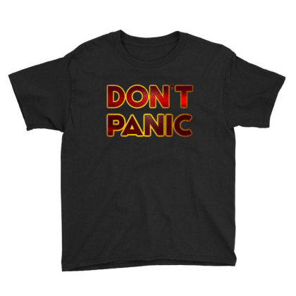 Don't Panic Youth Tee Designed By Dhigraphictees