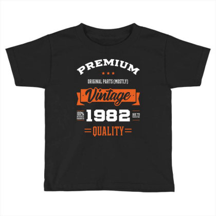 1982 Vintage Year - Aged To Perfection - 38th Birthday Gift Toddler T-shirt Designed By Diogo Calheiros