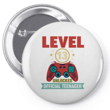 Level 13 Unlocked Official Teenager Pin-back Button Designed By Vip.pro123
