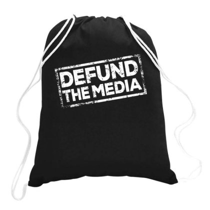 Defund The Media Drawstring Bags Designed By Dhigraphictees