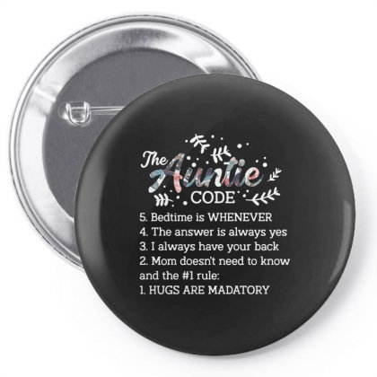 The Auntie Code Pin-back Button Designed By Vip.pro123