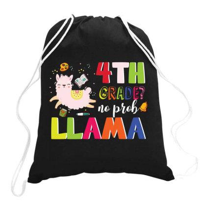 4th Grade No Prob Llama Cute Back To School Drawstring Bags Designed By Vip.pro123