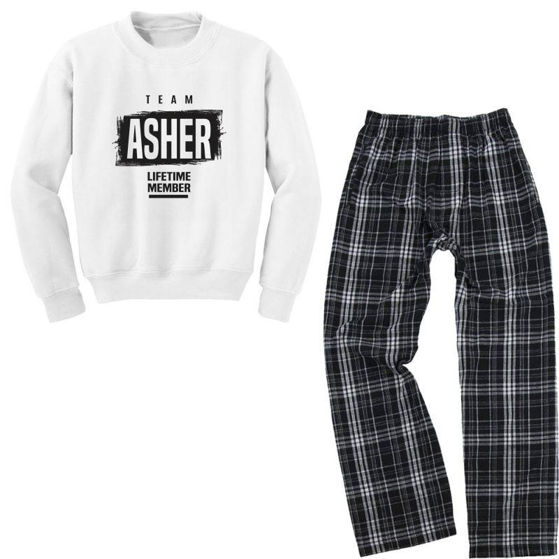 Asher Youth Sweatshirt Pajama Set | Artistshot