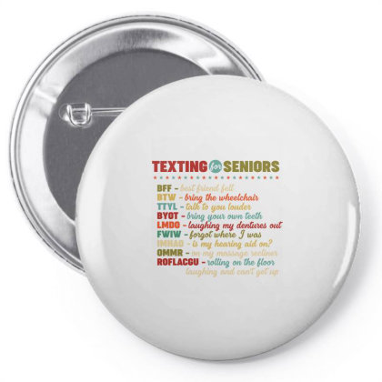 Texting For Seniors Retro Vintage Pin-back Button Designed By Vip.pro123