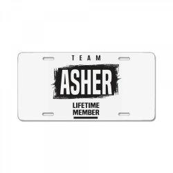 Asher License Plate   Artistshot