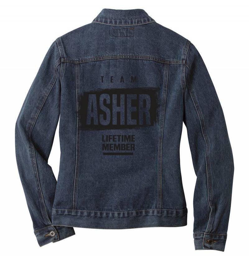 Asher Ladies Denim Jacket | Artistshot