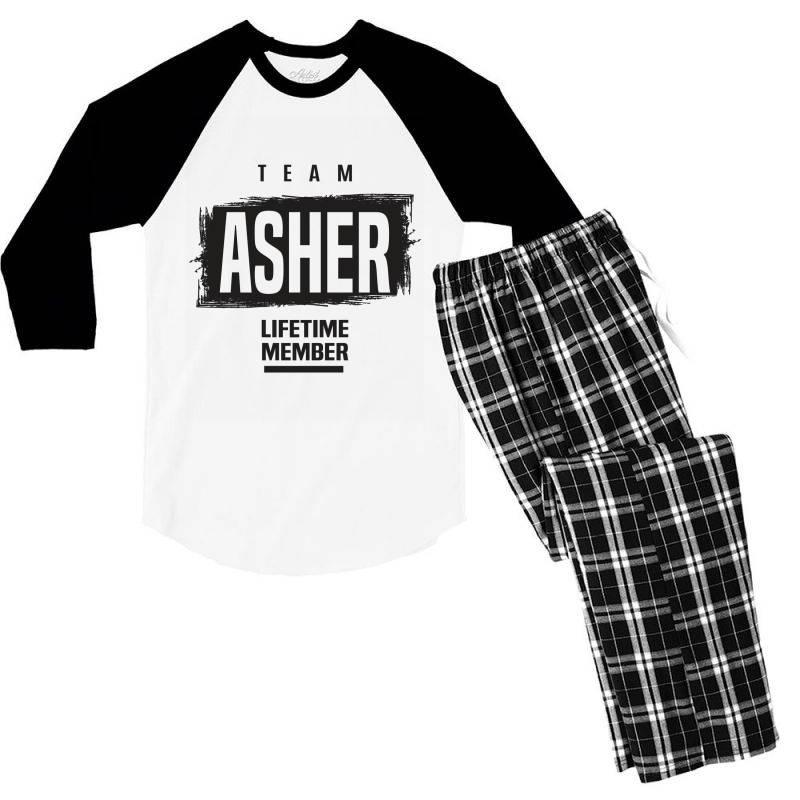 Asher Men's 3/4 Sleeve Pajama Set   Artistshot