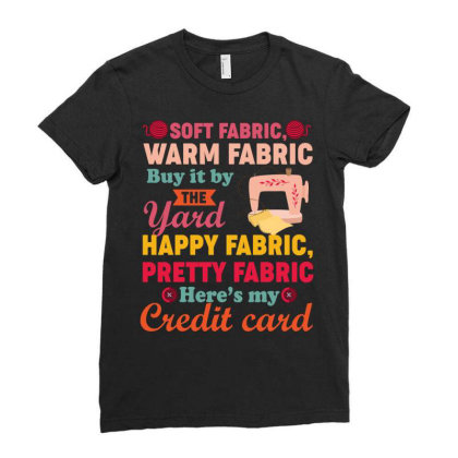 Soft Fabric Warm Fabric Buy It By The Yard Happy Fabric Pretty Fabric Ladies Fitted T-shirt Designed By Vip.pro123