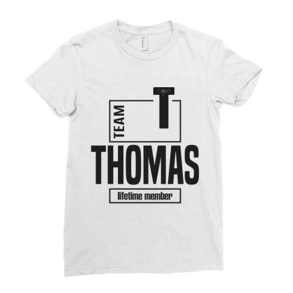 Thomas Ladies Fitted T-shirt Designed By Chris Ceconello