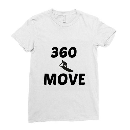 360 Surf Wave Move Ladies Fitted T-shirt Designed By Perfect Designers
