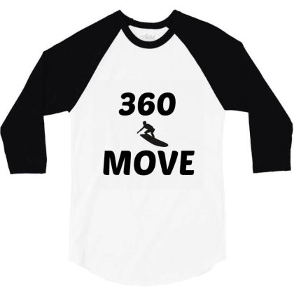 360 Surf Wave Move 3/4 Sleeve Shirt Designed By Perfect Designers
