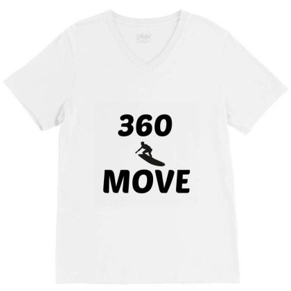 360 Surf Wave Move V-neck Tee Designed By Perfect Designers