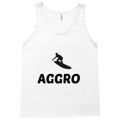 Aggro – Aggressive Surfing Surfer Tank Top Designed By Perfect Designers