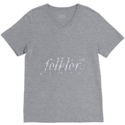 Folklore Album. V-neck Tee Designed By Kiva27